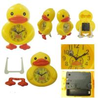 China Yellow Duck Design Alarm Clock for Home Decoration wholesale