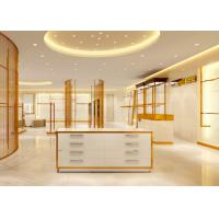 Quality Luxury Stainless Steel Store Display Fixtures For Women Clothing Shop for sale