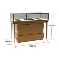 China Veneer MDF Glass Display Cabinets , Jewelry Watches Retail Shop Display wholesale