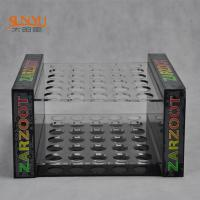 China 2 Tiers Perspex Display Shelves Nail Polish Stand Rack PMMA Crazy Logo Printed wholesale