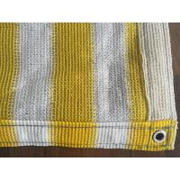 China Yellow And White Anti Uv Balcony Shade Net , Hdpe Knitted Raschel Netting wholesale
