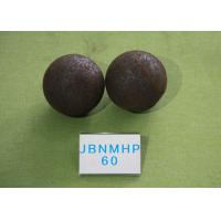 Quality B2 D60MM Unbreakable Steel Grinding Ball for Mining , Steel Balls for Ball Mill Long Working Life for sale