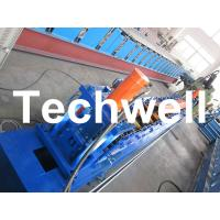 China Rolling Shutter Door Track Roll Forming Machine With 16 Forming Station TW-DTM45 wholesale