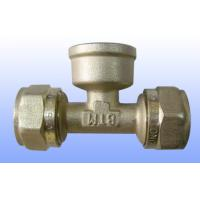 China compression brass fitting female tee for PEX-AL-PEX wholesale