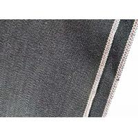 Quality Double Weft / Warp Cotton Canvas Denim Chambray Fabric W93929 Overall Black Selvedge for sale