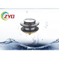China SS Material Pop Up Bathroom Sink Drain, Bathtub Pop Up Drain Without Overflow Hole on sale