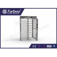 China Full Height Gate , Turnstile Security Products 30 Persons / Min Transit Speed wholesale