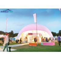 China Steel Frame Transparent PVC Geodesic Dome Tent for Exhibition Dia 5 - 40m wholesale