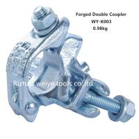 China Q235 Double Forged Coupler For Connecting 2 Tubes / Pipe Clamps UK Type EN74 wholesale