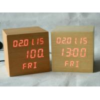 China Square Shape Calendar Snooze Temperature Mulit Function Desktop Clock wholesale