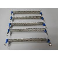 China 120MM Clear Spiral Coiled Urethane Tether w/Screw Terminal Connectors wholesale