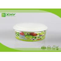 China 26oz Custom logo Printed Wide Top Shallow Height Paper Salad Bowls With Flat Lid wholesale