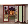 China Double Glazed Aluminium Folding Doors Soundproof Energy Saving With Built In Blinds wholesale