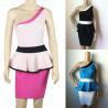 China Wholesale One Shoulder New Design Hot Sale Peplum Popular Sexy Sheath Bandage Dress wholesale
