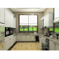 China Moisture Proof Board Pvc Kitchen Cabinets With Visible Handle 8 Years Guarantee wholesale