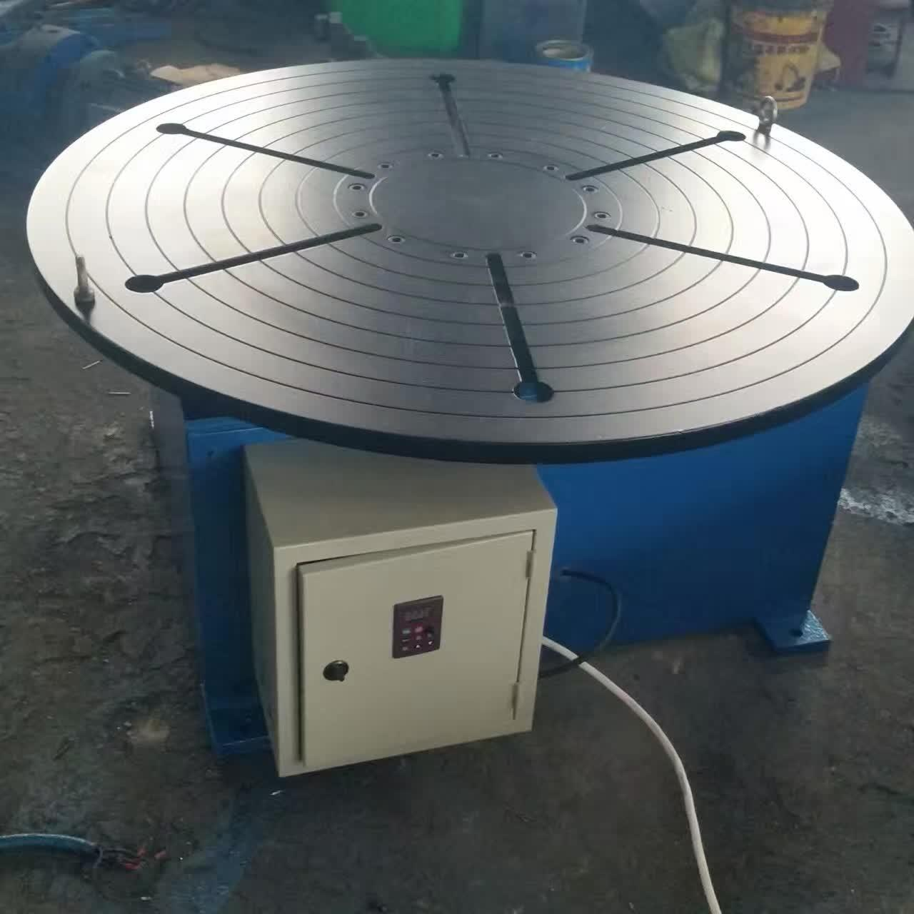 China Pipe Revolving Table For Welding For Round Seam Welding Rotary Table With Round Table Supporting 15 Tons wholesale