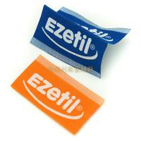 China White Taffeta Woven Custom Clothing Brand Labels With Centre Fold Eco Friendly wholesale
