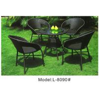 China Backyard wicker rattan 4 chairs set-8090 wholesale