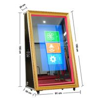 Buy cheap 65 Entertainment Wooden Frame Magic Selfie Mirror Photo Booth from wholesalers
