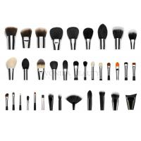 China Professional  Private Label Makeup Brushes With Silver Copper Ferrule 35 pcs wholesale