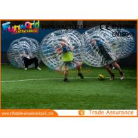 China Clear TPU Inflatable Human Knocker Ball , Inflatable Ball Suit wholesale