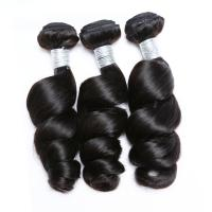 China Natural Color Loose Wave Hair Malaysian Virgin Hair Extensions Full Cuticle Aligned wholesale