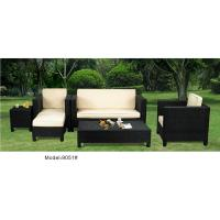 China 5-piece patio outdoor  resin Wicker classic high back sofa with chaise -9051 wholesale