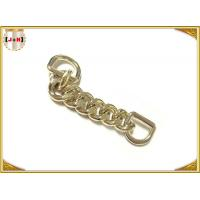 China Zinc Alloy Custom Bag Hardware Gold Metal D Ring With Chain Die Casting Plating wholesale