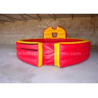 China Red Color Inflatable Gaga Ball Pit Game PVC Tarpaulin 20ft Portable For Fun wholesale