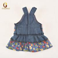 China 2019 denim sleeveless girl doll dress for18 inch american girl doll clothes wholesale