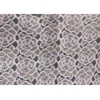 China Water soluable golden Embroidered Rose guipure Lace Fabric Textile Design 90% Nylon 10% Lycra Spandex Knitting wholesale