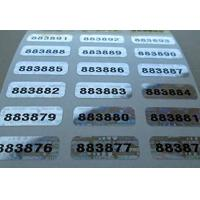 China Self Adhesive Security Sticker Labels Scratch Off Custom Printing wholesale