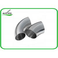 China Durable Sanitary Butt Weld Fittings 45 / 90 / 180 Degree Bends Elbows Fittings wholesale