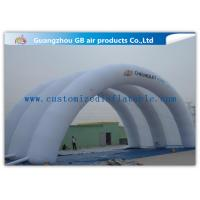 China White Inflatable Arch Tent / Inflatable Tunnel Tent With Oxford Cloth Material wholesale