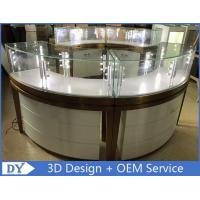 China High End Stainless Steel Gold Jewellery Showroom Display With Led Light wholesale
