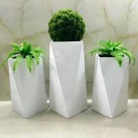 China 2019 factory hot selling light weight fiberglass planter pots for wholesale wholesale