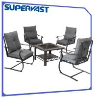 China C spring 5pc Patio Bistro Set Replacement Fire Pit Top Bar Table on sale