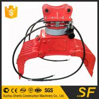 China Excavator buckets of  7.5Tons excavator rotating sorting grapple on sale