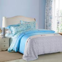 China 4 Piece Navy Blue Bedding Sets , 100 Percentage Cotton Beautiful Bedroom Bedding Sets wholesale