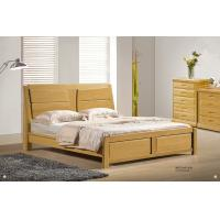China Modern beech solid Wood bed home furniture wholesale