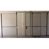 China Full Height  Wire Mesh Partition Panels Metal Mesh Security Door For Inventory System wholesale
