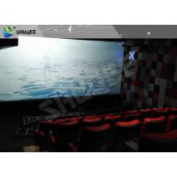 China Electric Black / Blue Motion Chair 4D Movie Theater With Simulator System Chair Effect wholesale