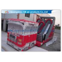 China Outdoor Truck Shape Inflatable Water Slides For Kids And Adults Customized wholesale