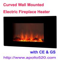 China Black Wall Mounting Electric Fire Place wholesale