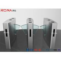 China Durable Pedestrian Turnstile Gate , Flap Turnstile Entry Systems 0.6s Operating Time wholesale