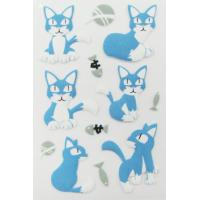 China Pet Die Cut 3d Animal Stickers , Handbag Little Cat Puffy Stickers Offset Printing wholesale