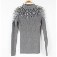 China Formail Womens Cable Knit Sweaters Lace Top Long-Sleeve Basic Jumpers wholesale