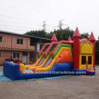 China 4 In 1 Amusement Park Inflatable Bounce Houses Rentals EN14960 Approvals wholesale