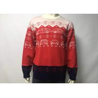 China Round Neck Cool Men Knitted Ugly Christmas Sweater Dress , Ugly Christmas Pullover wholesale