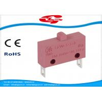 China 10A 5A 250V AC Electrical Micro Switches , Push Button Electric Switch SPST Type on sale